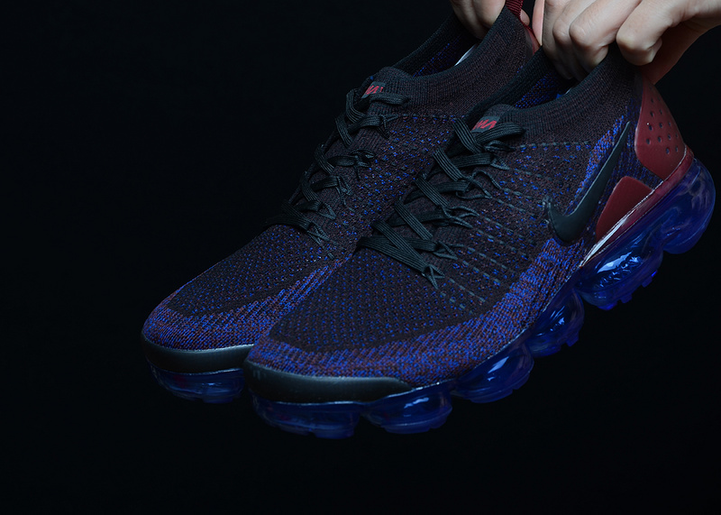 premium selection 3bae1 ee079 Nike Air Vapormax Flyknit 2 Black Team Red Racer Blue Game Royal 942843 006  Men's Running Shoes 942843-006