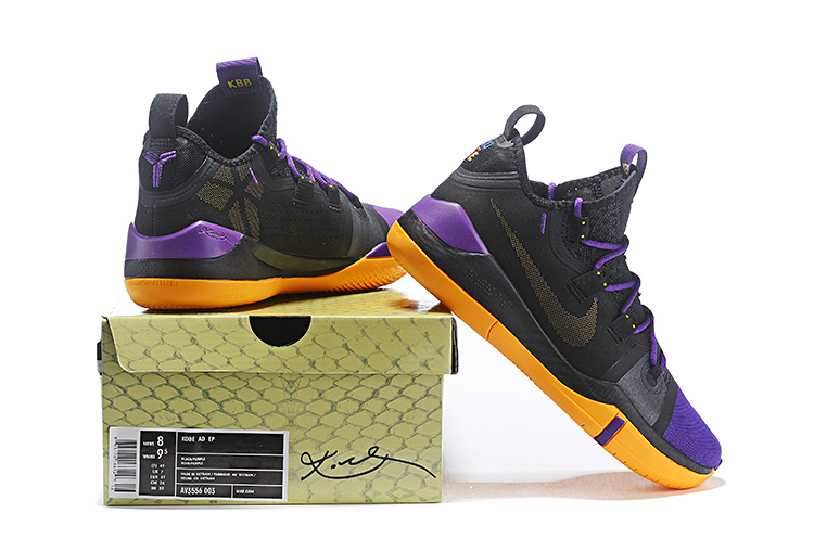 eeed7ff7c44d Nike Kobe AD Exodus Lakers Black Purple Yellow AV3556 003 Men s ...
