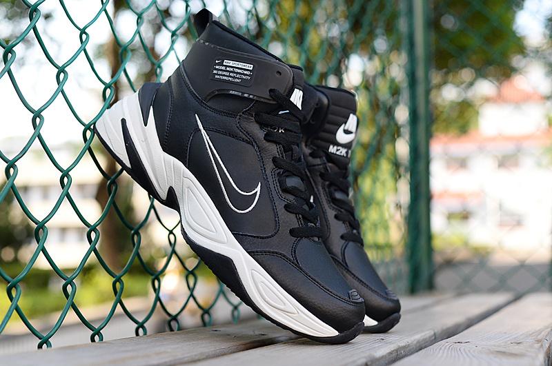 32a8a987348e Nike M2K Tekno Mid Black White Men s Casual Shoes Sneakers NIKE ...