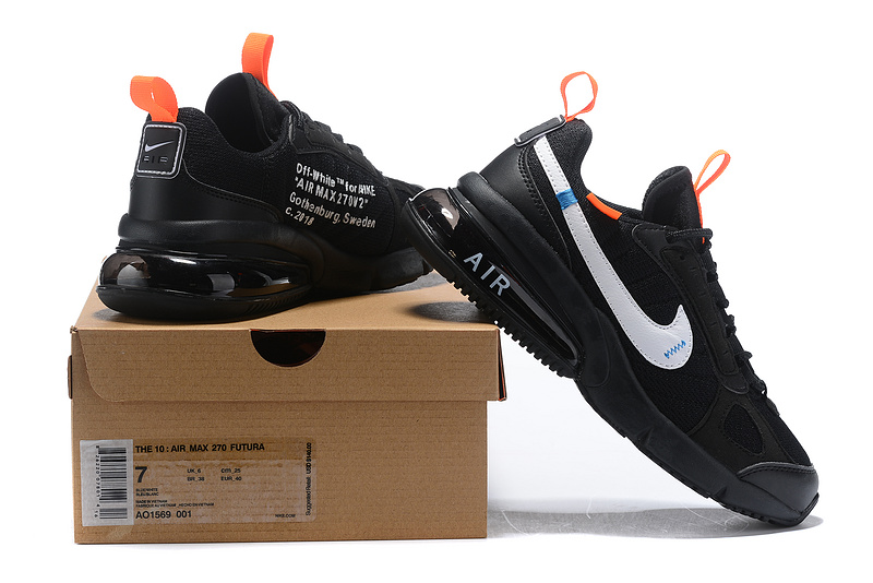 Air 001a Off Shoes Men's Ao1569 Futura White 001 Total Casual Orange 270 Nike Max Blackamp; IvfybY76gm