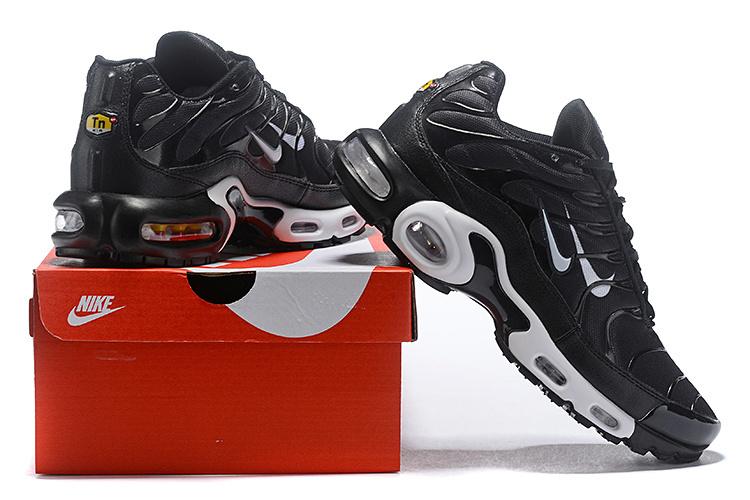 best website 99083 ede42 Nike Air Max 97 Plus TN Black White Men's Running Shoes NIKE-ST004409