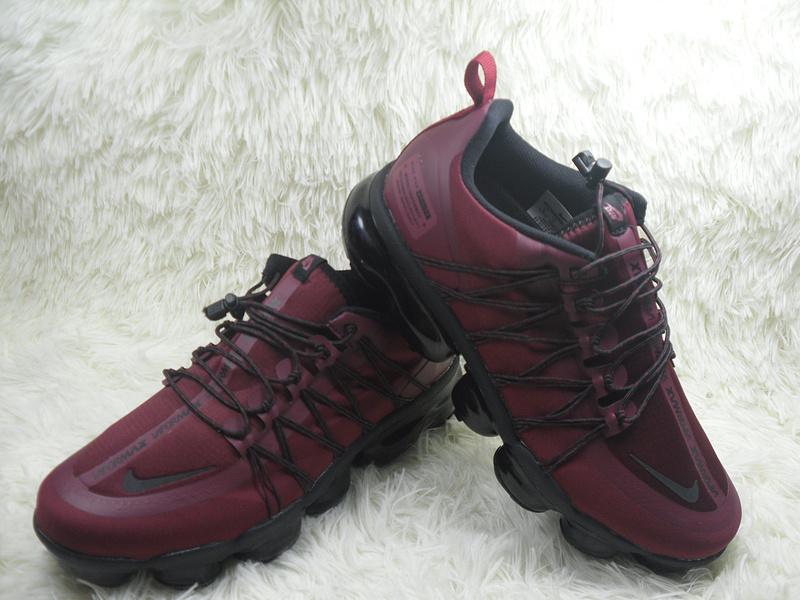 quality design 72407 44431 Nike Air VaporMax Run Utility Burgundy Black Men's Running Shoes  NIKE-ST004351