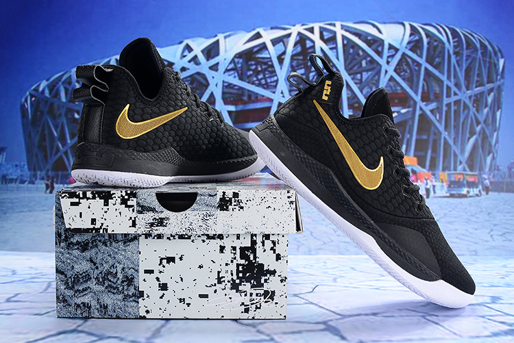 75316eca0d64 Nike LeBron Witness III 3 Black Gold Men s Basketball Shoes NIKE ...