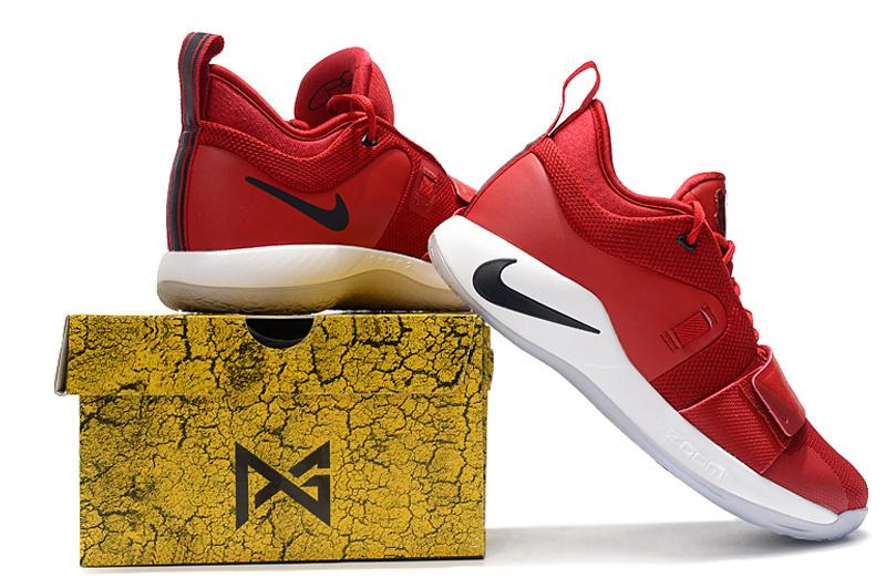 7a900e5b0631 Nike Paul George PG 2. 5 Red White Black Men s Basketball Shoes NIKE ...