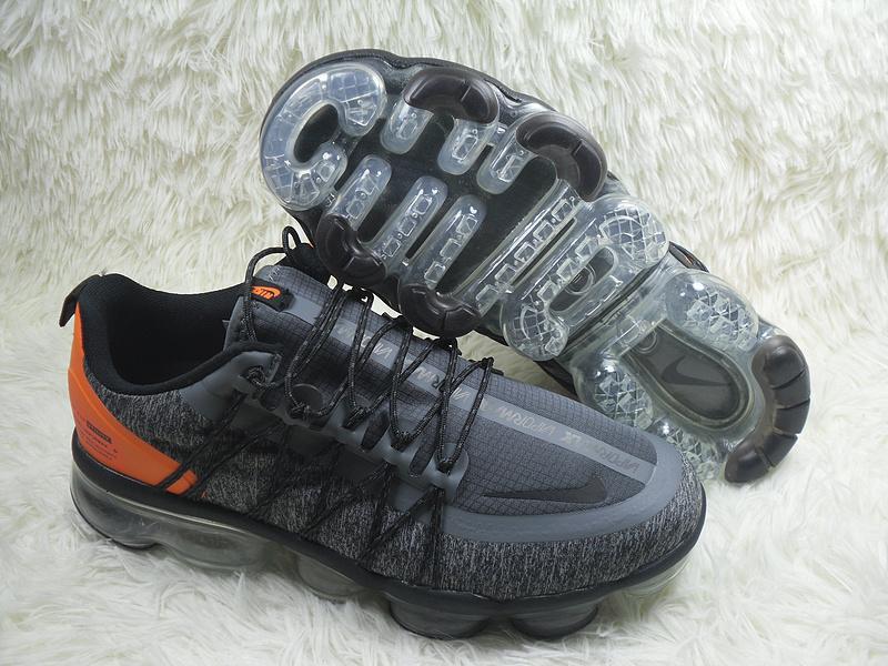 size 40 8c79c 3b183 Nike Air VaporMax Run Utility Black Grey Orange Men's Running Shoes  NIKE-ST004349