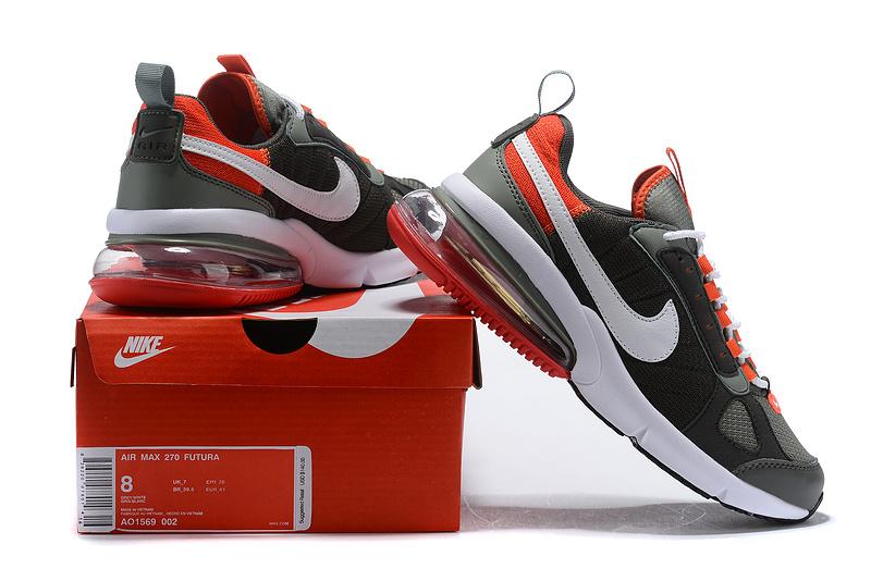 Nike Air Max 270 Futura Dark StuccoWhiteNewsprintTeam Orange AO1569 002 Men's Casual Shoes AO1569 002