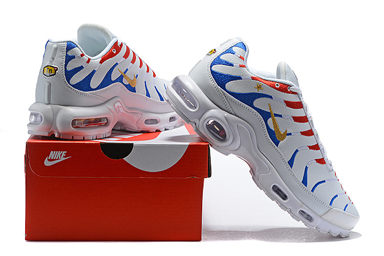 wholesale dealer df5fa 95cb9 Nike Air Max Plus Tn France Kylian Mbappe Cup Blue Gold White Red Women's  Men's Running Shoes NIKE-ST004051