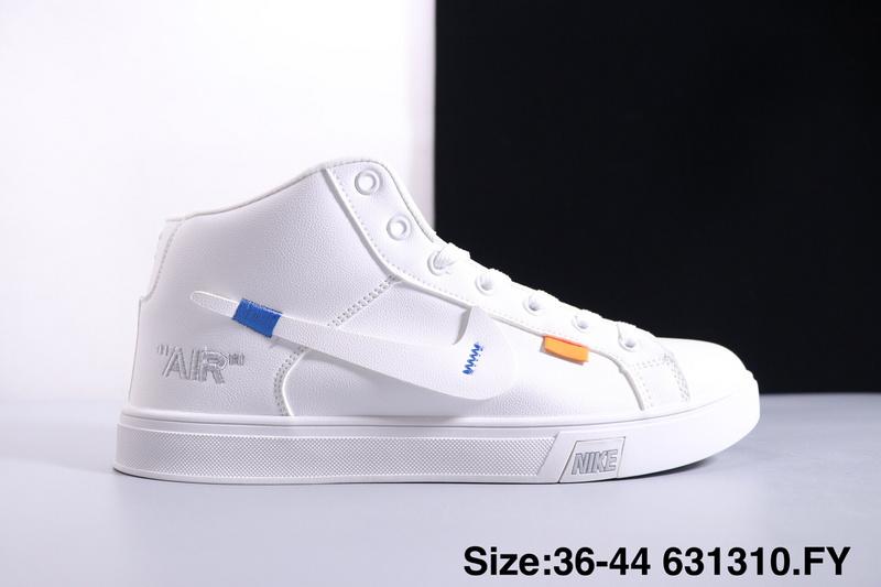 cbcce1543d925 Nike Blazer Mid Triple White Orange Women s Men s Casual Shoes ...