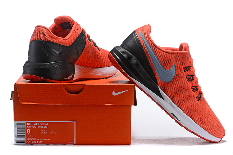 new style 046c9 f57e9 Nike Air Zoom Structure 22 Orange silver Black White AA1636 620 Men's  Casual Shoes Sneakers AA1636-620