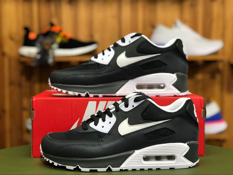 Nike Air Max 90 Essential Anthracite White Black 537384 089 Men's Casual Shoes Sneakers 537384 089a