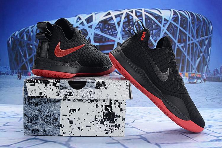 54054e1cc5749 Nike LeBron Witness III 3 black-university red Men s Basketball Shoes