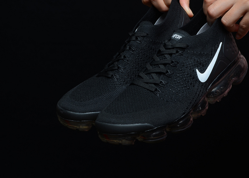 9e3b183d58e Nike Air VaporMax Flyknit 2 Black Dark Grey Metallic Silver White 942843  001 Women s ...