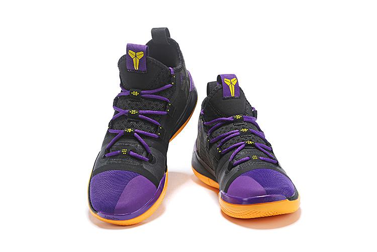 sale retailer 58b40 1daad Nike Kobe AD Exodus Lakers Black Purple Yellow AV3556 003 Men's Basketball  Shoes AV3556-003