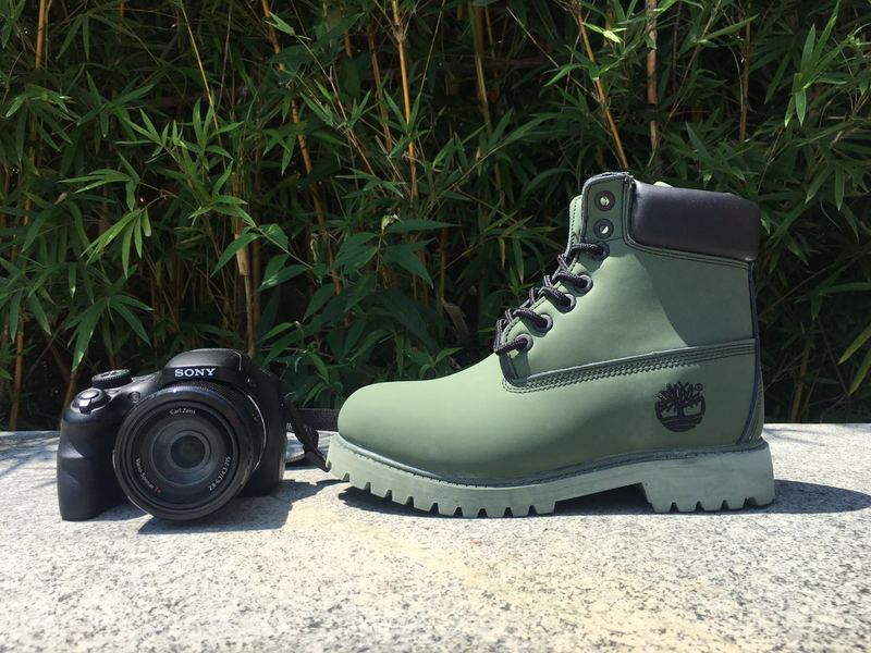 cdedbd9144fbd Timberland 6 Inch Nubuck Leather Boots Olive Green Black Mens Childrens Waterproof  Boots