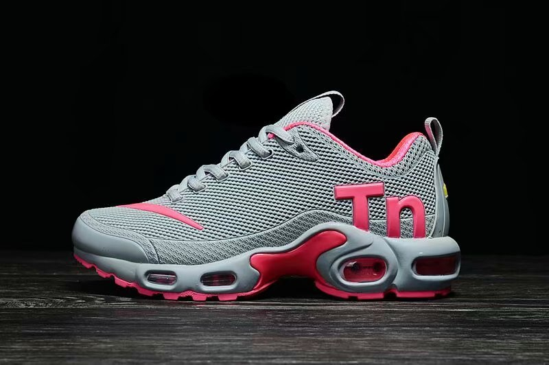 Womens Nike Mercurial TN KPU Wolf Grey Pink White Running Shoes NIKE ... afe3847477