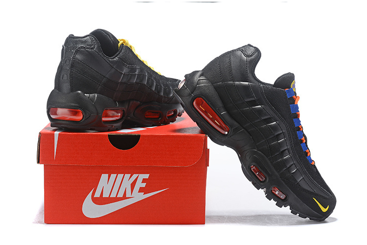great fit ff0ab a95b2 Nike Air Max 95 Black Gold Blue Orange Blue Men's Casual Shoes NIKE-ST004088