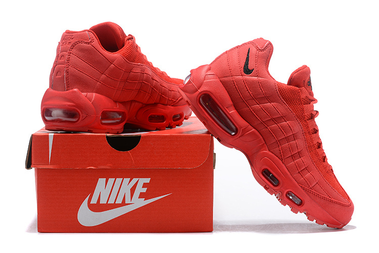 new concept 631be e84b2 Nike Air Max 95 October Red Black Women's Casual Shoes NIKE-ST004083