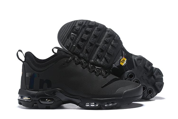 cheap for discount bb6ca 7d76e Nike Air Max Plus Mercurial TN Triple Black AQ0242 001 Womens Mens Running  Shoes AQ0242-001A