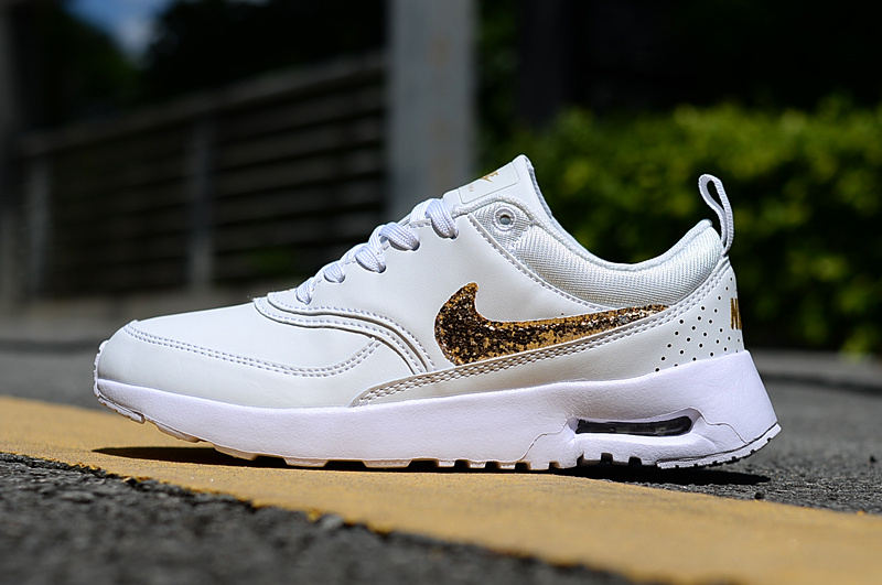 save off 3a004 1ac1a Good Nike Air Max Thea 87 Creamy White Metal Gold Womens Running Shoes  Sneakers