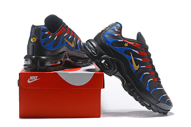 new products 2bd57 36b53 Nike Air Max Plus Tn France Kylian Mbappe Cup Black Blue Red Gold Women's  Men's Running Shoes NIKE-ST004050