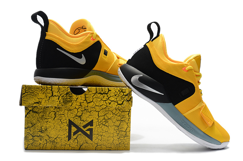 7a530e508387 Nike Paul George PG 2. 5 Yellow Black White Men s Basketball Shoes ...