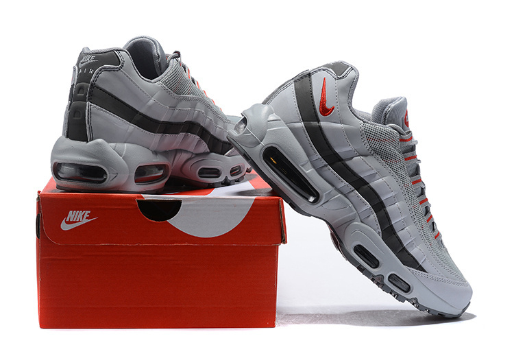 Nike Air Max 95 Silver Red Silver Bullet AQ9972 001 Men's Casual Shoes AQ9972 001