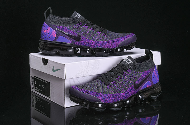 e535ab83041ef Nike Air VaporMax Flyknit 2 Dark Grey Purple 942842 600 Women s ...