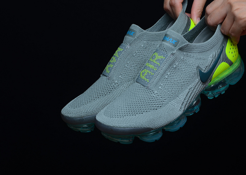 competitive price 6c1d2 8d1dd Nike VaporMax Flyknit 2. 0 Moc Mica Green Volt Neo Turquoise AH7006 201  Women's Men's Running Shoes AH7006-201