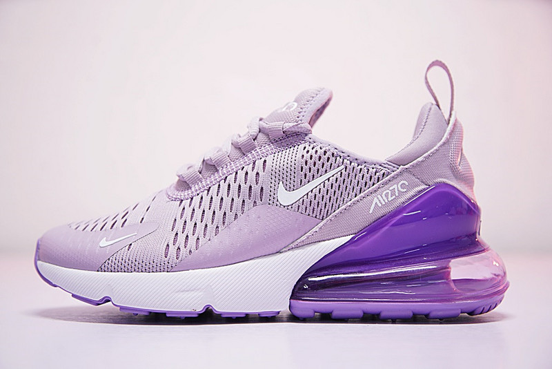low priced 25b06 8ee12 Nike Air Max 270 Flyknit Light Purple White AH8050 510 Women's Casual Shoes  AH8050-510