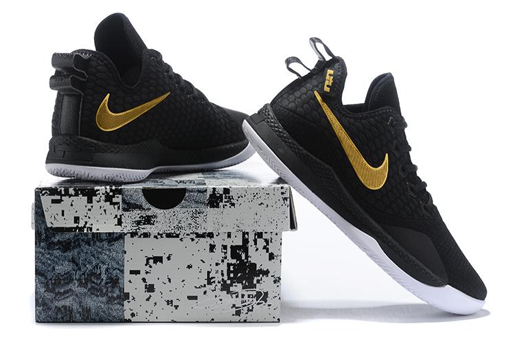 ce50e7c62d4 Nike Lebron Witness 3 Black Gold White Men s Basketball Shoes NIKE ...