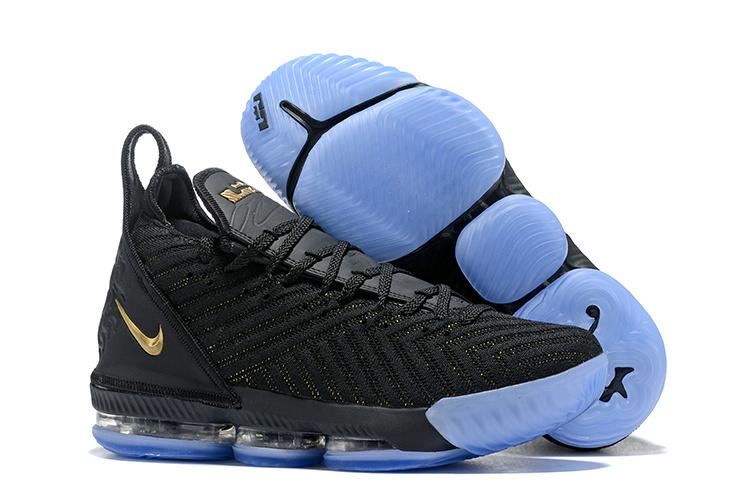 4dc1c72081a Durable NIKE LEBRON 16 BLACK GOLD Men s Basketball Shoes NIKE ...