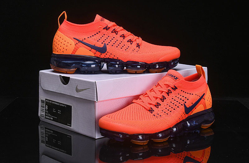 54cb703dcc965 Nike Air VaporMax Flyknit 2 Team Red Obsidian 942842 106 Women's Men's ...