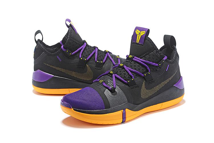 sale retailer 5c45a 842d6 Nike Kobe AD Exodus Lakers Black Purple Yellow AV3556 003 Men's Basketball  Shoes AV3556-003