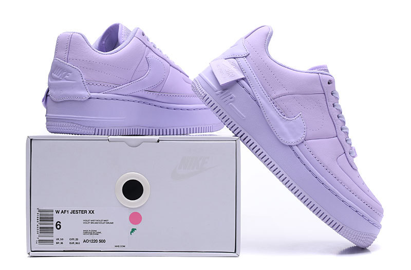 db3fe90c9c3 Nike Air Force 1 Jester WMNS Violet AO1220 104 Women's Men's Casual ...