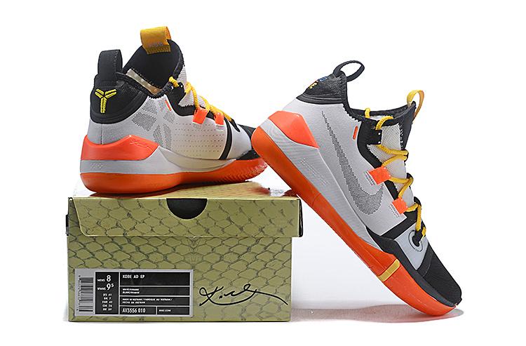 buy online f3eec 17ba5 Nike Kobe AD Exodus White Black Multi-Color AV3556 010 Men's Basketball  Shoes AV3556-010