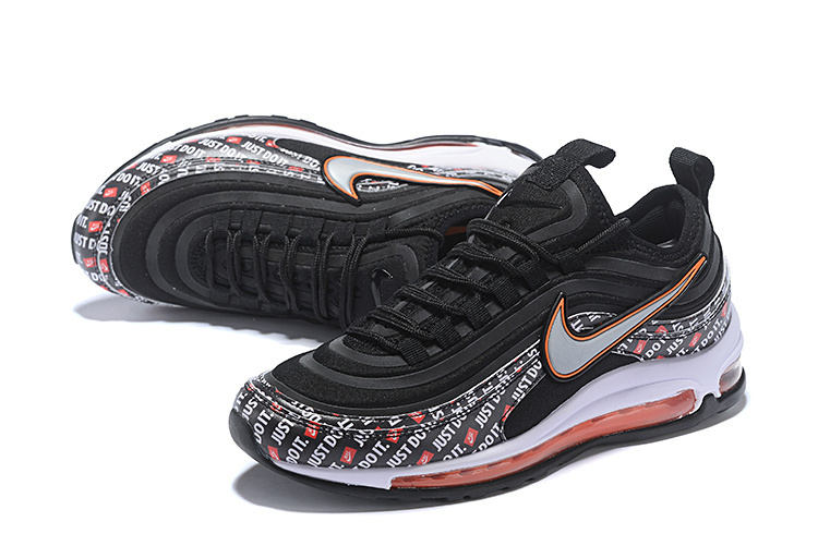 Men's Nike Air Max 97 Ultra SE Just Do It Black White Orange Casual Shoes Sneakers NIKE ST004402