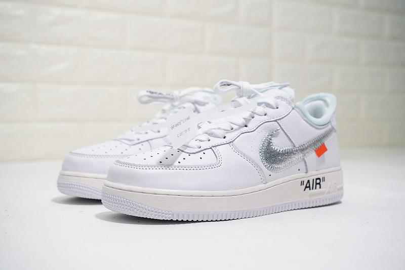 Shoes Men's 1 100 Metallic White Sneakers Force 07 Silver Nike Casual X Av5210 Air Off qzpVMUS
