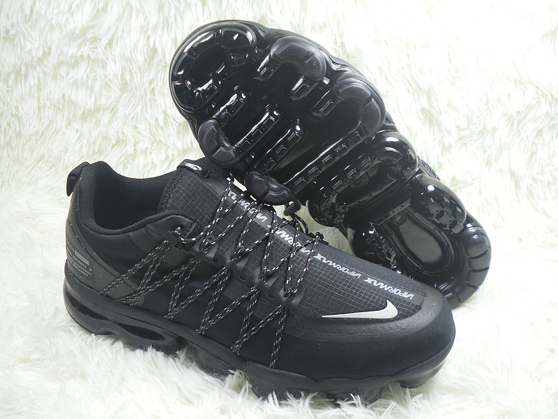 brand new 8f73d ce8c9 Nike Air VaporMax Run Utility Black Silver Men's Running Shoes NIKE-ST004352