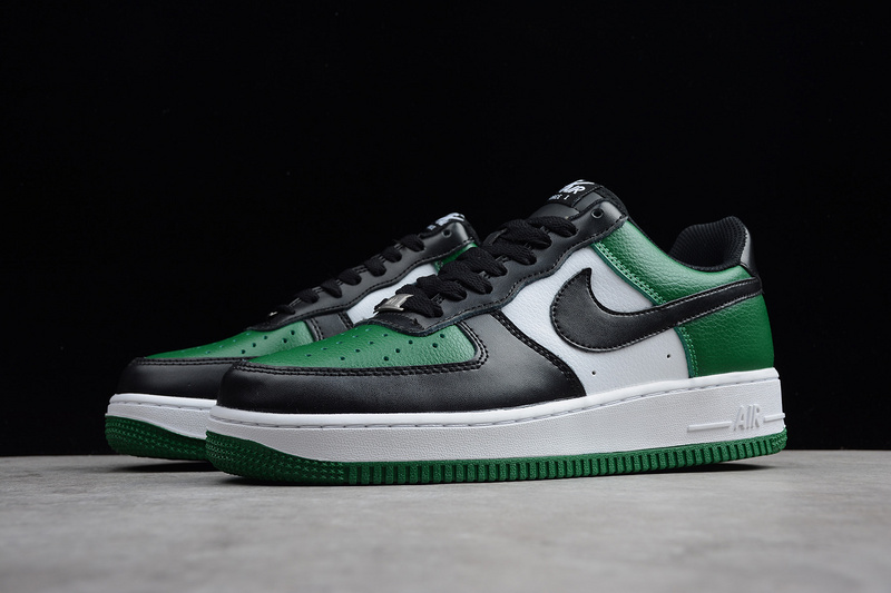 huge discount 8c206 a9788 Nike Air Force 1 Low Black White Pine Green 315112 302 Men s Casual Shoes  Sneakers