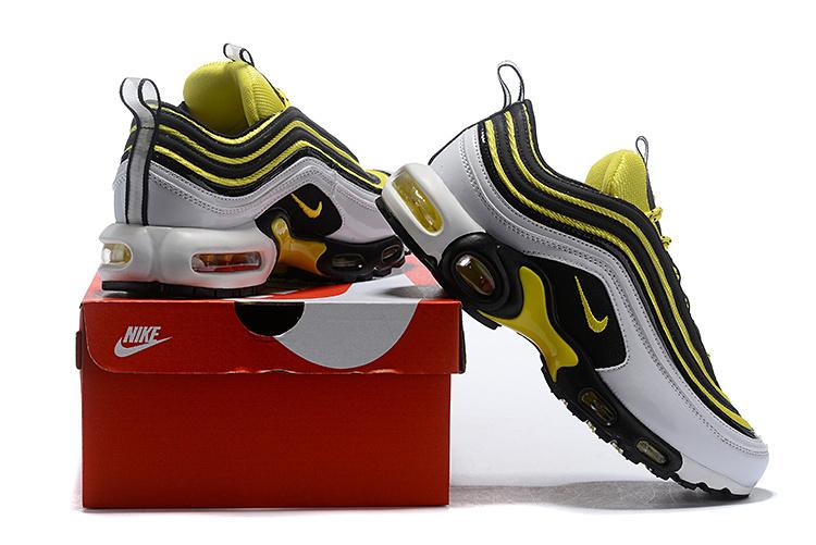 9c1195fbd199 Nike Air Max Plus 97 TN Frequency Pack White Yellow AV7937-100 Men s ...