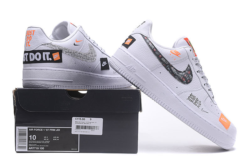 Nike Air Force 1  07 Premium JDI Just Do It Pack White Black Total ... fb27d3fd2