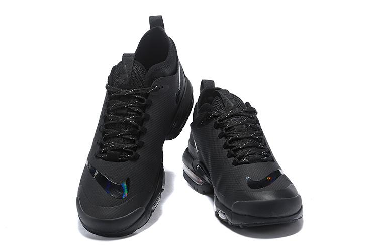 1a17cbd0dd3c Nike Air Max Plus Mercurial TN Triple Black AQ0242 001 Womens Mens Running  Shoes