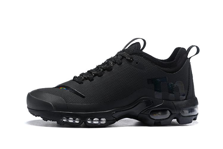 Nike Air Max Plus Mercurial TN Triple Black AQ0242 001 Womens Mens Running Shoes AQ0242 001A