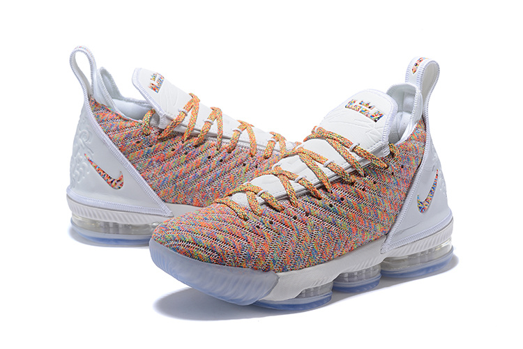 check out 79733 b17bb Nike LeBron 16 Cereal White/Multi-Color Men's Basketball Shoes NIKE-ST004174