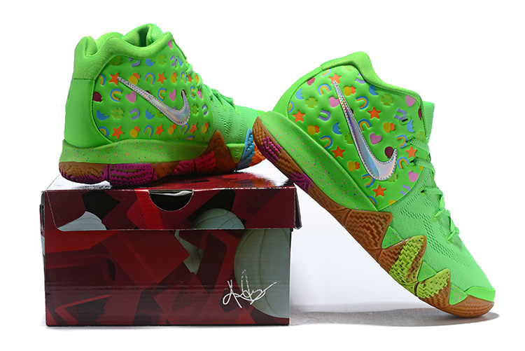 06d5b2000f9f Nike Kyrie 4 Green lucky charm Men s Basketball Shoes NIKE-ST004436 ...