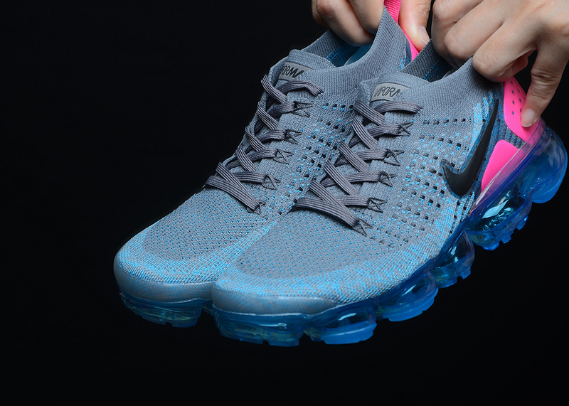 Nike Air VaporMax 2 Gunsmkoke Blue Orbit Pink Blast 942843 004 ... 78c69dc249