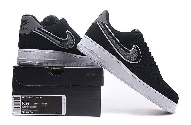 new concept 8def1 afd0c Nike Air Force 1 Low 07 LV8 Black Cool Grey White 823511 014 Women s Men s  Casual