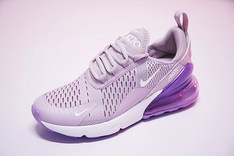 low priced 9598d 5f38e Nike Air Max 270 Flyknit Light Purple White AH8050 510 Women's Casual Shoes  AH8050-510