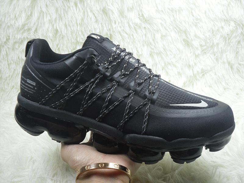 brand new 92859 4ceed Nike Air VaporMax Run Utility Black Silver Men's Running Shoes NIKE-ST004352