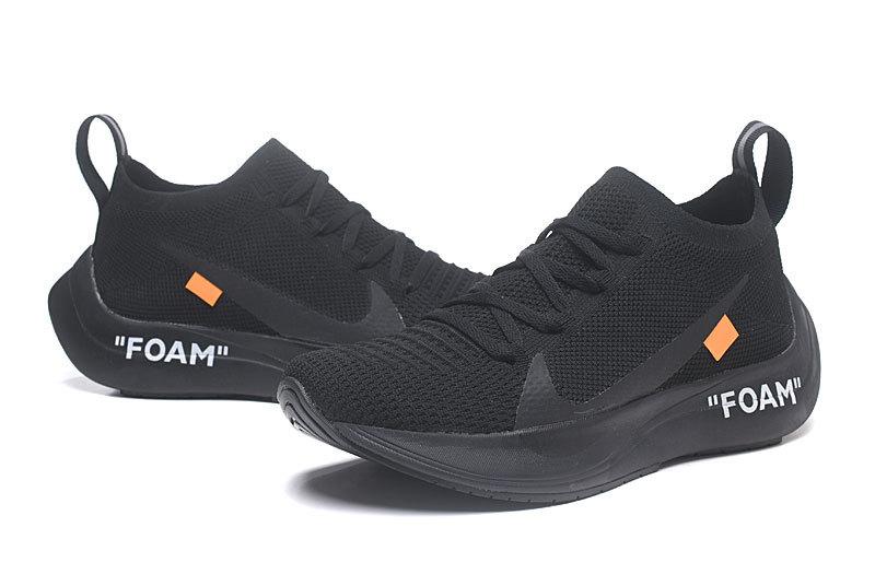 a8280bee9571 Nike React Vapor Street Flyknit Triple Black Orange Men s Sportswear  Running Shoes
